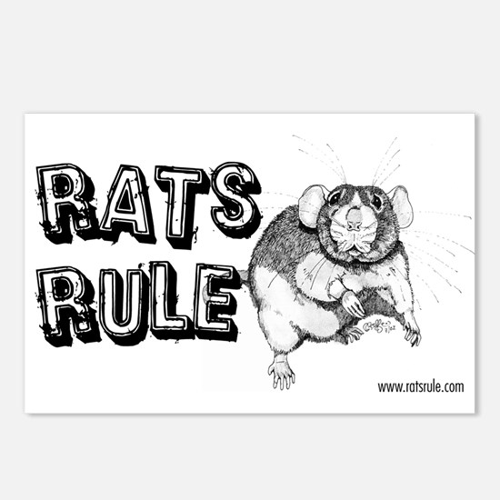 Rats Rule Dumbo Postcards (Package of 8)