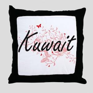 Kuwait Artistic Design with Butterfli Throw Pillow