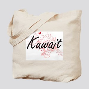 Kuwait Artistic Design with Butterflies Tote Bag