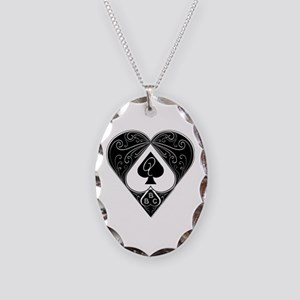 Bbc & Queen Of Spades 2 Necklace Oval Charm