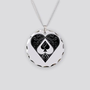 Bbc & Queen Of Spades 2 Necklace Circle Charm