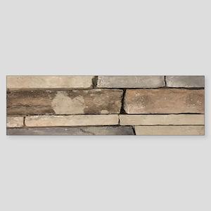 contemporary old brick wall Bumper Sticker