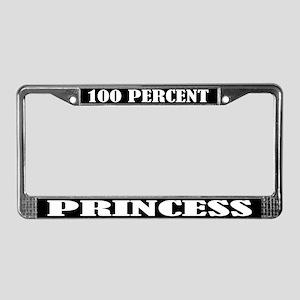 100% Princess License Plate Frame