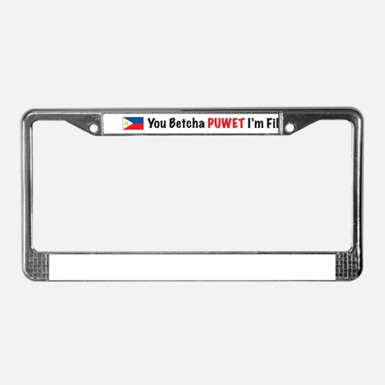 Cute Pinay License Plate Frame