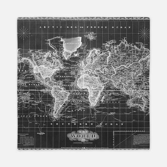 Cool World map Queen Duvet
