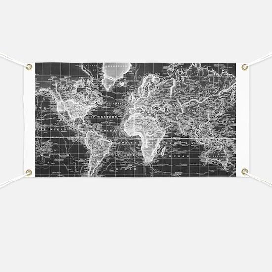 Unique World map Banner