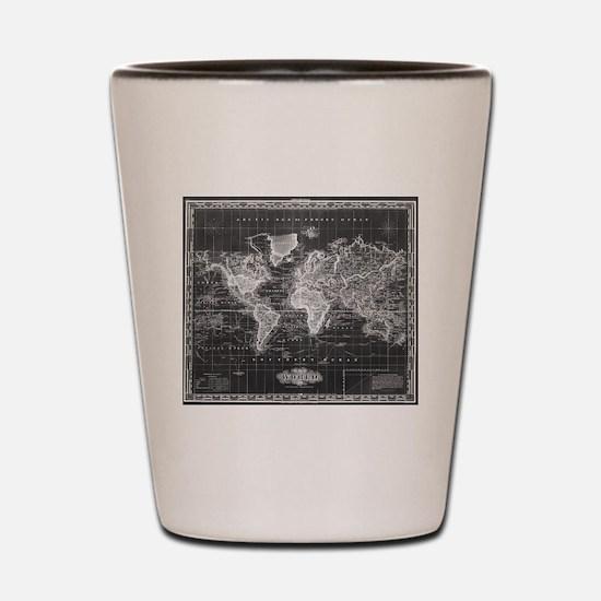 Unique Antique world map Shot Glass