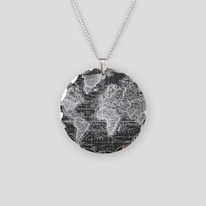 World map jewelry cafepress necklace circle charm gumiabroncs Choice Image