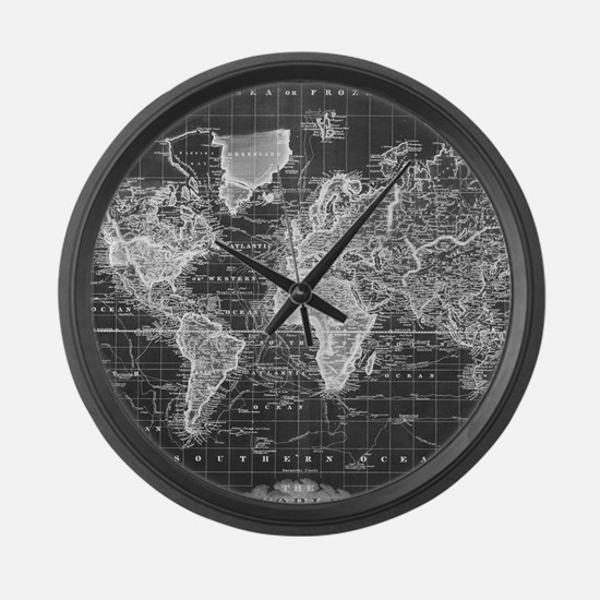 Cool Old world map Large Wall Clock