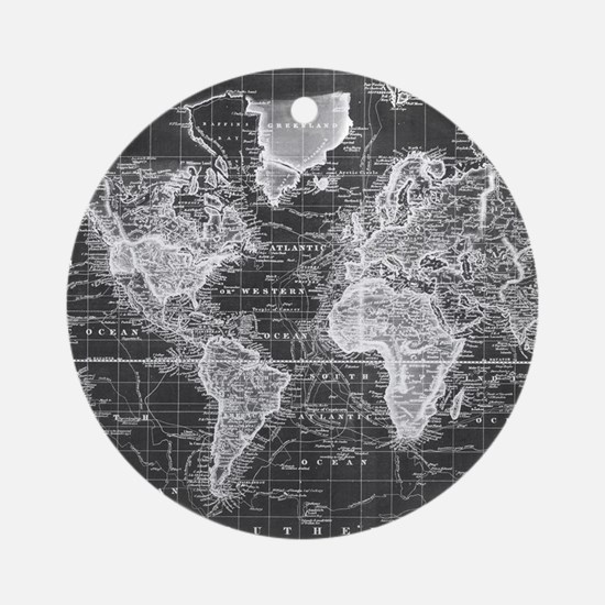 Cool World map Round Ornament