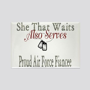 proud air force fiancee Rectangle Magnet