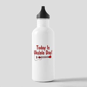 Ukulele Day Water Bottle
