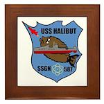USS Halibut (SSGN 587) Framed Tile