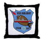USS Halibut (SSGN 587) Throw Pillow