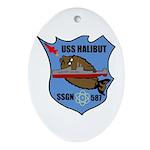 USS Halibut (SSGN 587) Oval Ornament