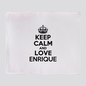 Keep Calm and Love ENRIQUE Throw Blanket