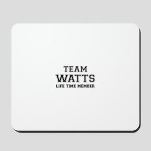 Team WATTS, life time member Mousepad