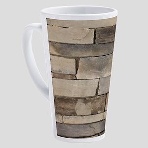 contemporary old brick wall 17 oz Latte Mug