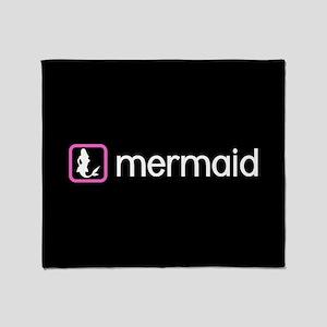 Mermaid (Pink) Throw Blanket