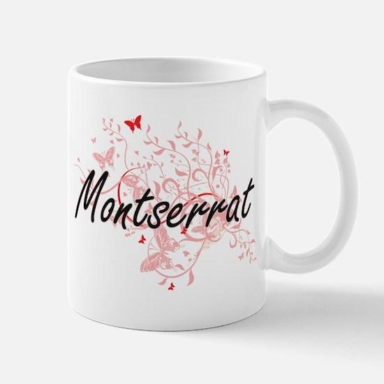 Montserrat Artistic Design with Butterflies Mugs