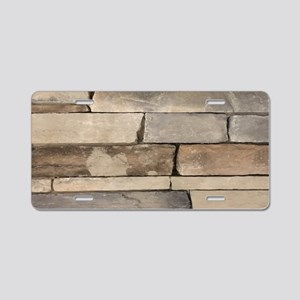contemporary old brick wall Aluminum License Plate