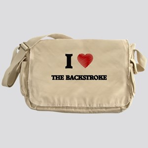 I Love The Backstroke Messenger Bag