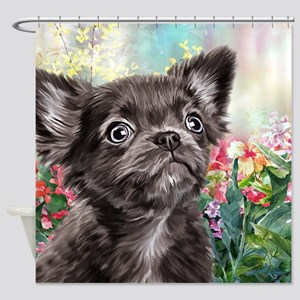 Chihuahua Painting Shower Curtain