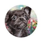 Chihuahua Painting Round Ornament
