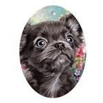 Chihuahua Painting Oval Ornament