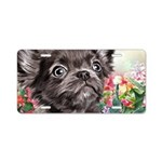 Chihuahua Painting Aluminum License Plate