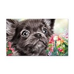 Chihuahua Painting Rectangle Car Magnet