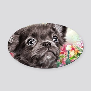 Chihuahua Painting Oval Car Magnet