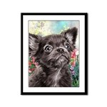 Chihuahua Painting Framed Panel Print