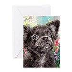 Chihuahua Painting Greeting Cards