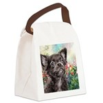Chihuahua Painting Canvas Lunch Bag