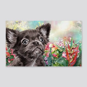 Chihuahua Painting Area Rug