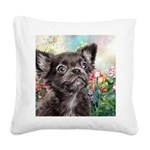 Chihuahua Painting Square Canvas Pillow