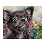 Chihuahua Painting Throw Blanket