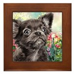 Chihuahua Painting Framed Tile
