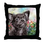 Chihuahua Painting Throw Pillow
