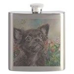Chihuahua Painting Flask