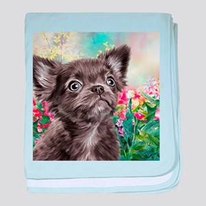Chihuahua Painting baby blanket