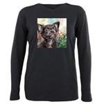 Chihuahua Painting Plus Size Long Sleeve Tee