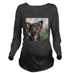 Chihuahua Painting Long Sleeve Maternity T-Shirt