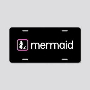 Mermaid (Pink) Aluminum License Plate