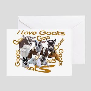 I love Goat Breeds Greeting Card