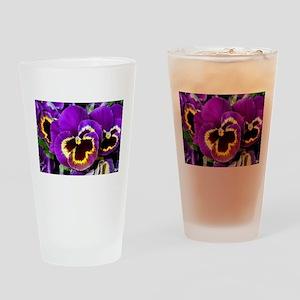 Beautiful purple pansy Drinking Glass