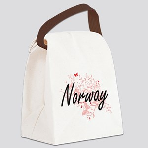 Norway Artistic Design with Butte Canvas Lunch Bag