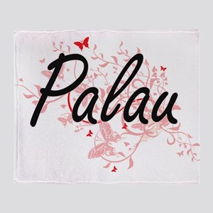 Palau Artistic Design with Butterfli Throw Blanket
