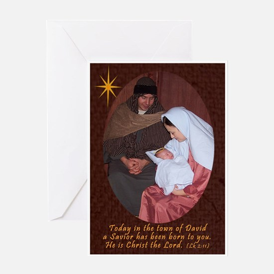 A Savior has been born Greeting Cards